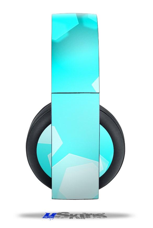 Sony PS4 Gold Wirless Headphones Skins Bokeh Hex Neon Teal