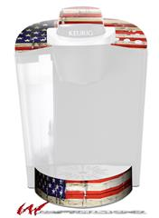 Painted Faded and Cracked USA American Flag - Decal Style Vinyl Skin fits Keurig K40 Elite Coffee Makers (KEURIG  NOT INCLUDED)