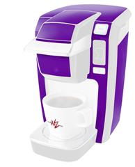 Solids Collection Purple - Decal Style Vinyl Skin fits Keurig K10 / K15 Mini Plus Coffee Makers (KEURIG  NOT INCLUDED)