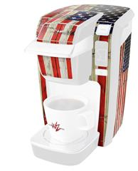 Painted Faded and Cracked USA American Flag - Decal Style Vinyl Skin fits Keurig K10 / K15 Mini Plus Coffee Makers (KEURIG  NOT INCLUDED)