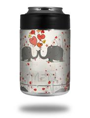 Skin Decal Wrap for Yeti Colster, Ozark Trail and RTIC Can Coolers - Elephant Love (COOLER NOT INCLUDED)