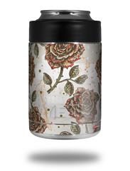 Skin Decal Wrap for Yeti Colster, Ozark Trail and RTIC Can Coolers - Flowers Pattern Roses 20 (COOLER NOT INCLUDED) by WraptorSkinz