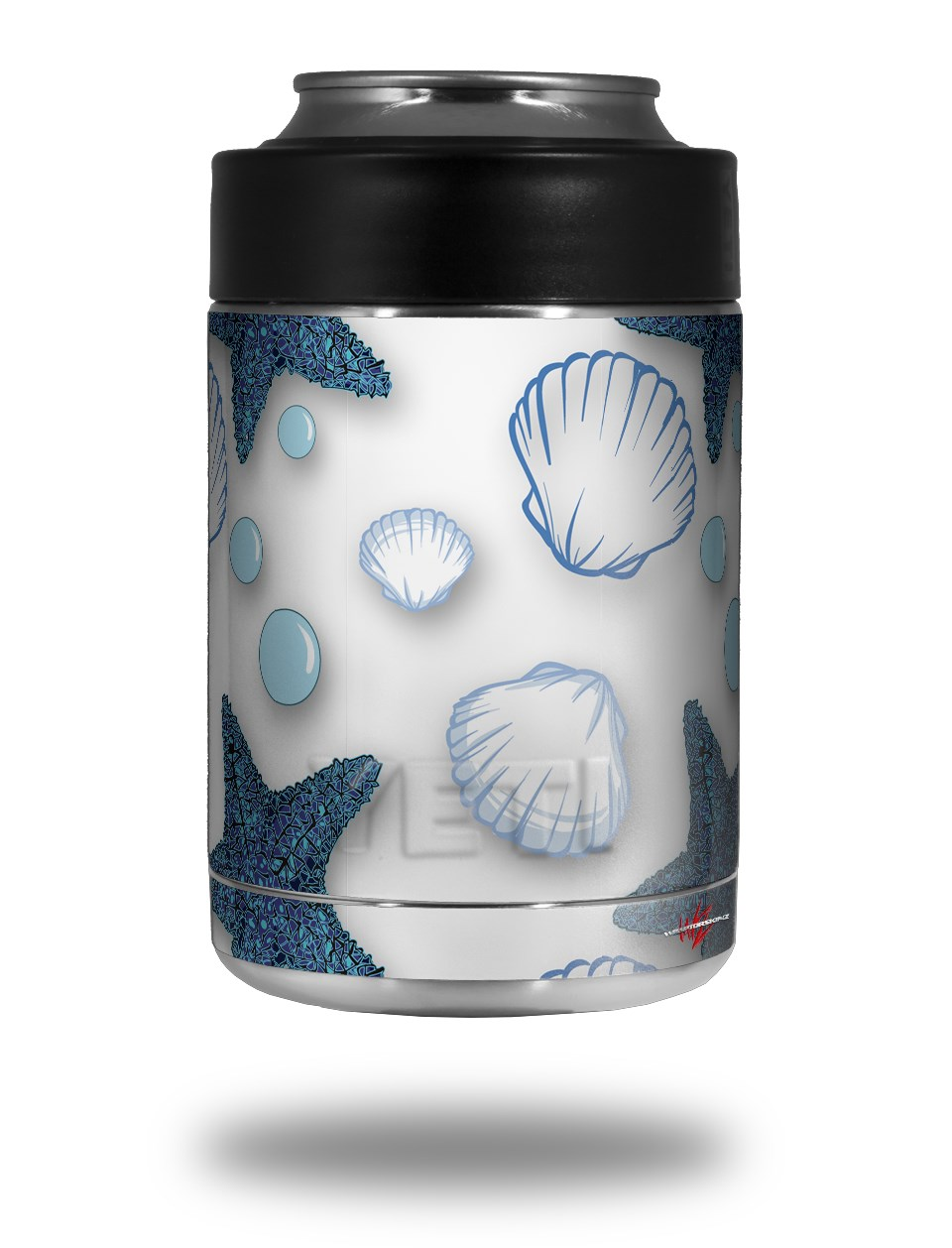 39837390f97 Yeti Rambler Colster and RTIC Can Cooler Skin Wraps Starfish and Sea Shells  White | uSkins