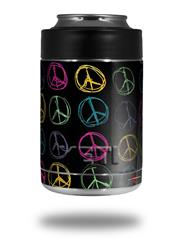 Skin Decal Wrap for Yeti Colster, Ozark Trail and RTIC Can Coolers - Kearas Peace Signs Black (COOLER NOT INCLUDED) by WraptorSkinz