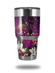 Skin Decal Wrap for Yeti Tumbler Rambler 30 oz Grungy Flower Bouquet (TUMBLER NOT INCLUDED) by WraptorSkinz