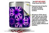 Skin Decal Wrap for Yeti Rambler Lowball - Daisies Purple