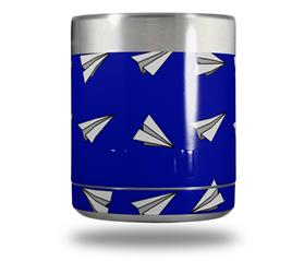 Skin Decal Wrap for Yeti Rambler Lowball - Paper Planes Royal Blue