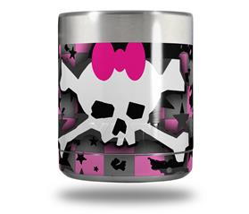 Skin Decal Wrap for Yeti Rambler Lowball - Pink Bow Skull