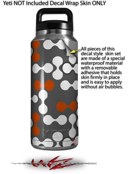 Yeti Rambler Bottle 36oz Locknodes 04 Burnt Orange | uSkins