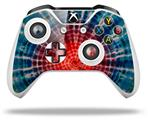 Tie Dye Bulls Eye 100 - Decal Style Skin fits Microsoft XBOX One X and One S Wireless Controller