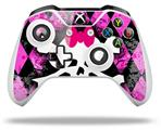 Pink Diamond Skull - Decal Style Skin fits Microsoft XBOX One X and One S Wireless Controller