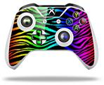 Rainbow Zebra - Decal Style Skin fits Microsoft XBOX One X and One S Wireless Controller