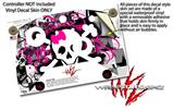 Splatter Girly Skull - Decal Style Skin fits Microsoft XBOX One X and One S Wireless Controller