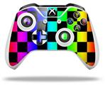 Rainbow Checkerboard - Decal Style Skin fits Microsoft XBOX One X and One S Wireless Controller