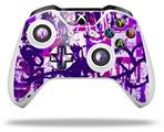 Purple Checker Graffiti - Decal Style Skin fits Microsoft XBOX One X and One S Wireless Controller