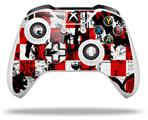 Checker Graffiti - Decal Style Skin fits Microsoft XBOX One X and One S Wireless Controller