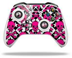 Pink Skulls and Stars - Decal Style Skin fits Microsoft XBOX One X and One S Wireless Controller