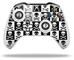 Skull Checkerboard - Decal Style Skin fits Microsoft XBOX One X and One S Wireless Controller