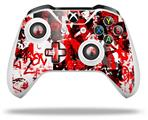 Red Graffiti - Decal Style Skin fits Microsoft XBOX One X and One S Wireless Controller