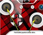 Red Plaid - Decal Style Skin fits Microsoft XBOX One X and One S Wireless Controller