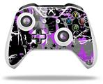 SceneKid Purple - Decal Style Skin fits Microsoft XBOX One X and One S Wireless Controller