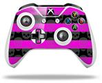 Skull Stripes Pink - Decal Style Skin fits Microsoft XBOX One X and One S Wireless Controller