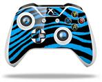 Zebra Blue - Decal Style Skin fits Microsoft XBOX One X and One S Wireless Controller