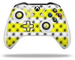 Kearas Daisies Stripe Yellow - Decal Style Skin fits Microsoft XBOX One X and One S Wireless Controller