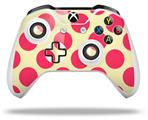 Kearas Polka Dots Pink On Cream - Decal Style Skin fits Microsoft XBOX One X and One S Wireless Controller