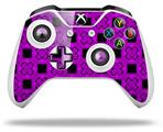 Criss Cross Purple - Decal Style Skin fits Microsoft XBOX One X and One S Wireless Controller