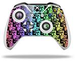 Skull Checker Rainbow - Decal Style Skin fits Microsoft XBOX One X and One S Wireless Controller