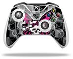 Skull Butterfly - Decal Style Skin fits Microsoft XBOX One X and One S Wireless Controller