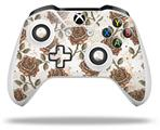 Flowers Pattern Roses 20 - Decal Style Skin fits Microsoft XBOX One X and One S Wireless Controller