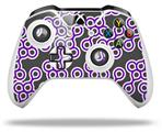 Locknodes 02 Purple - Decal Style Skin fits Microsoft XBOX One X and One S Wireless Controller