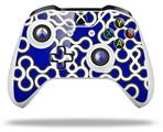 Locknodes 03 Royal Blue - Decal Style Skin fits Microsoft XBOX One X and One S Wireless Controller
