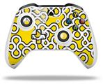 Locknodes 03 Yellow - Decal Style Skin fits Microsoft XBOX One X and One S Wireless Controller