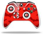 Deathrock Bats Red - Decal Style Skin fits Microsoft XBOX One X and One S Wireless Controller
