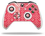 Gothic Punk Pattern Red - Decal Style Skin fits Microsoft XBOX One X and One S Wireless Controller