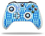 Skull And Crossbones Pattern Blue - Decal Style Skin fits Microsoft XBOX One X and One S Wireless Controller