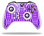 Skull And Crossbones Pattern Purple - Decal Style Skin fits Microsoft XBOX One X and One S Wireless Controller