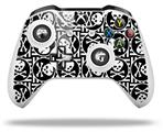 Skull Patch Pattern Bw - Decal Style Skin fits Microsoft XBOX One X and One S Wireless Controller