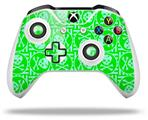 Skull Patch Pattern Green - Decal Style Skin fits Microsoft XBOX One X and One S Wireless Controller