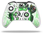 Cartoon Skull Green - Decal Style Skin fits Microsoft XBOX One X and One S Wireless Controller