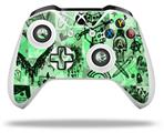 Scene Kid Sketches Green - Decal Style Skin fits Microsoft XBOX One X and One S Wireless Controller