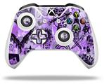 Scene Kid Sketches Purple - Decal Style Skin fits Microsoft XBOX One X and One S Wireless Controller