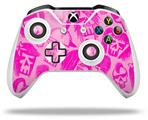 Skull Sketches Pink - Decal Style Skin fits Microsoft XBOX One X and One S Wireless Controller