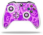 Skull Sketches Purple - Decal Style Skin fits Microsoft XBOX One X and One S Wireless Controller