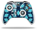 Abstract Floral Blue - Decal Style Skin fits Microsoft XBOX One X and One S Wireless Controller