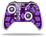 Abstract Floral Purple - Decal Style Skin fits Microsoft XBOX One X and One S Wireless Controller
