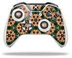 Floral Pattern Orange - Decal Style Skin fits Microsoft XBOX One X and One S Wireless Controller